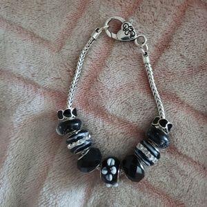 Black Out Charm Bracelet
